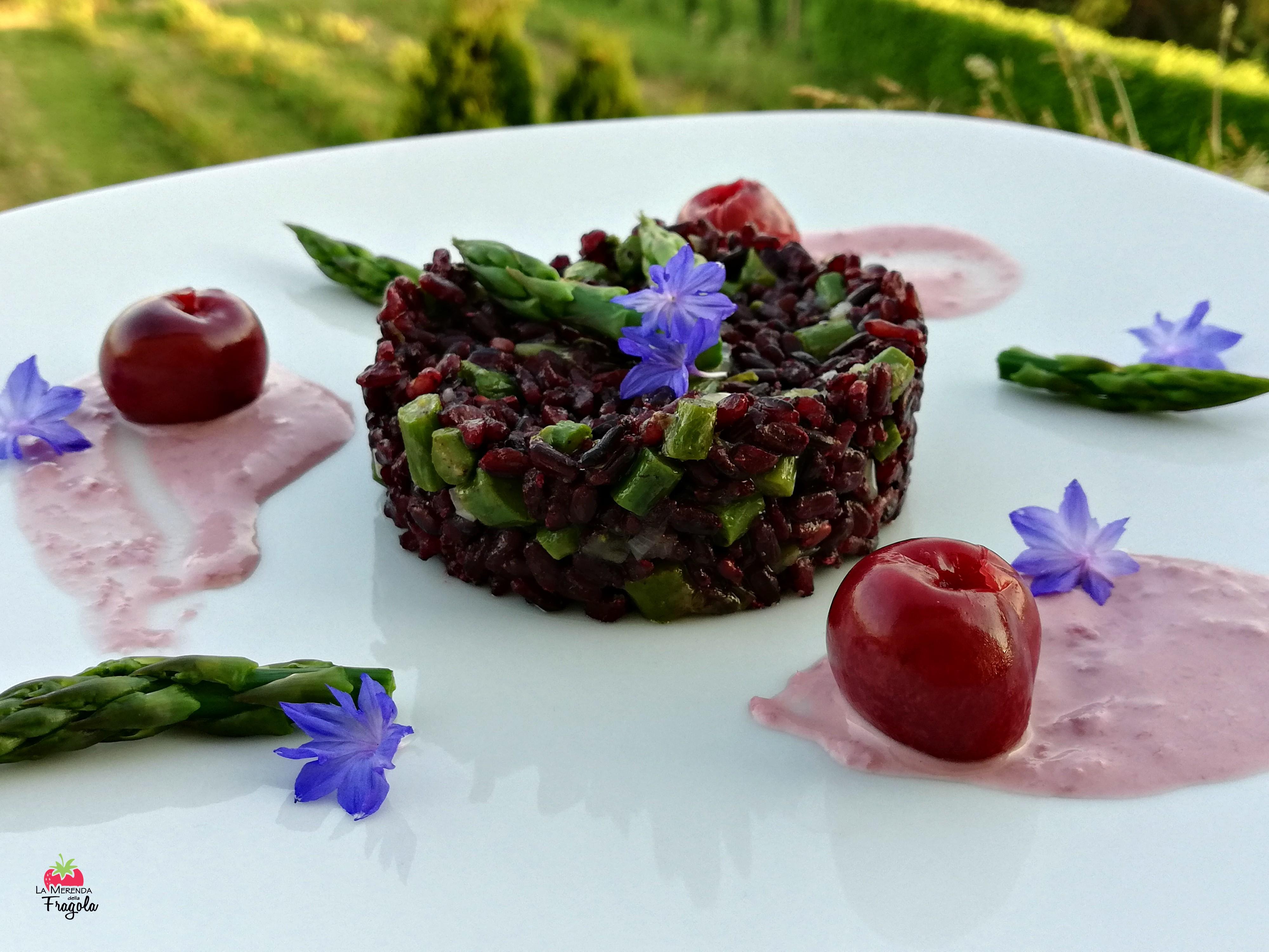 riso-venere-asparagi-ciliegie-1