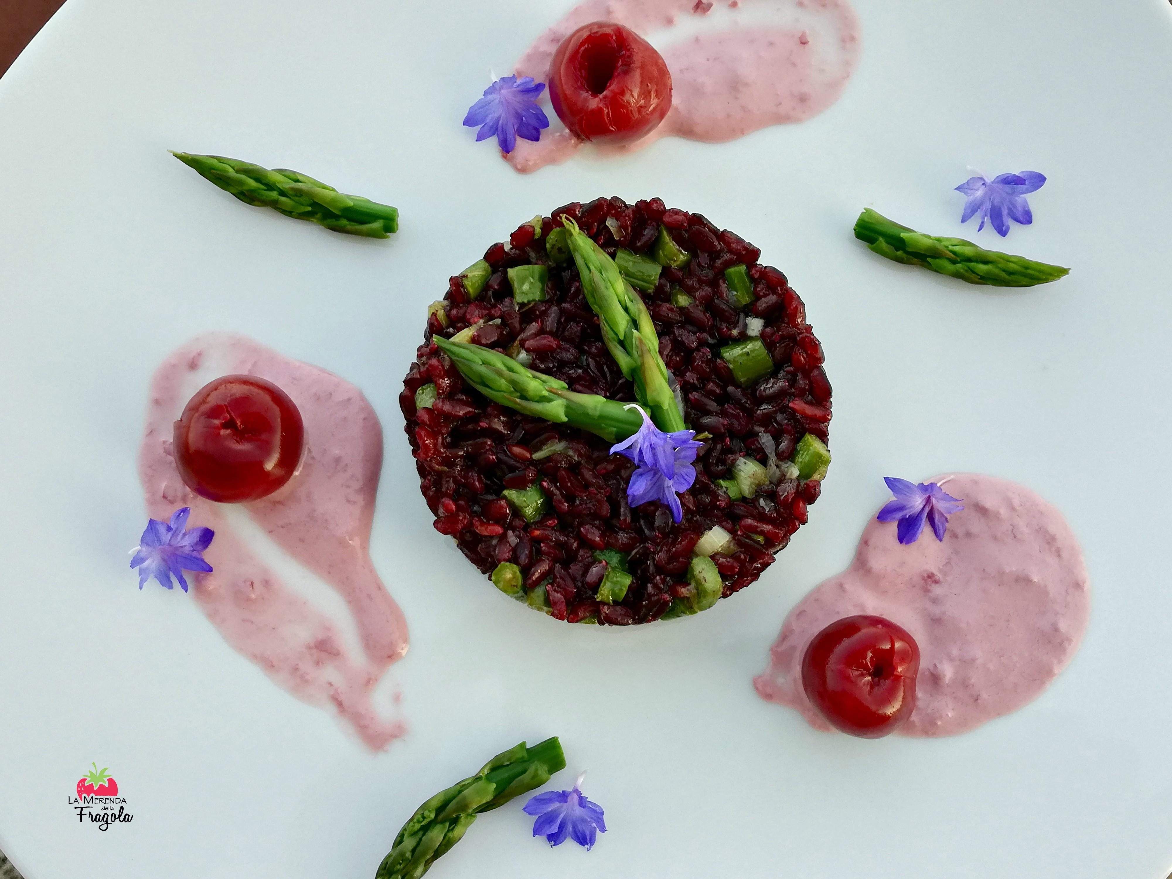 riso-venere-asparagi-ciliegie-2