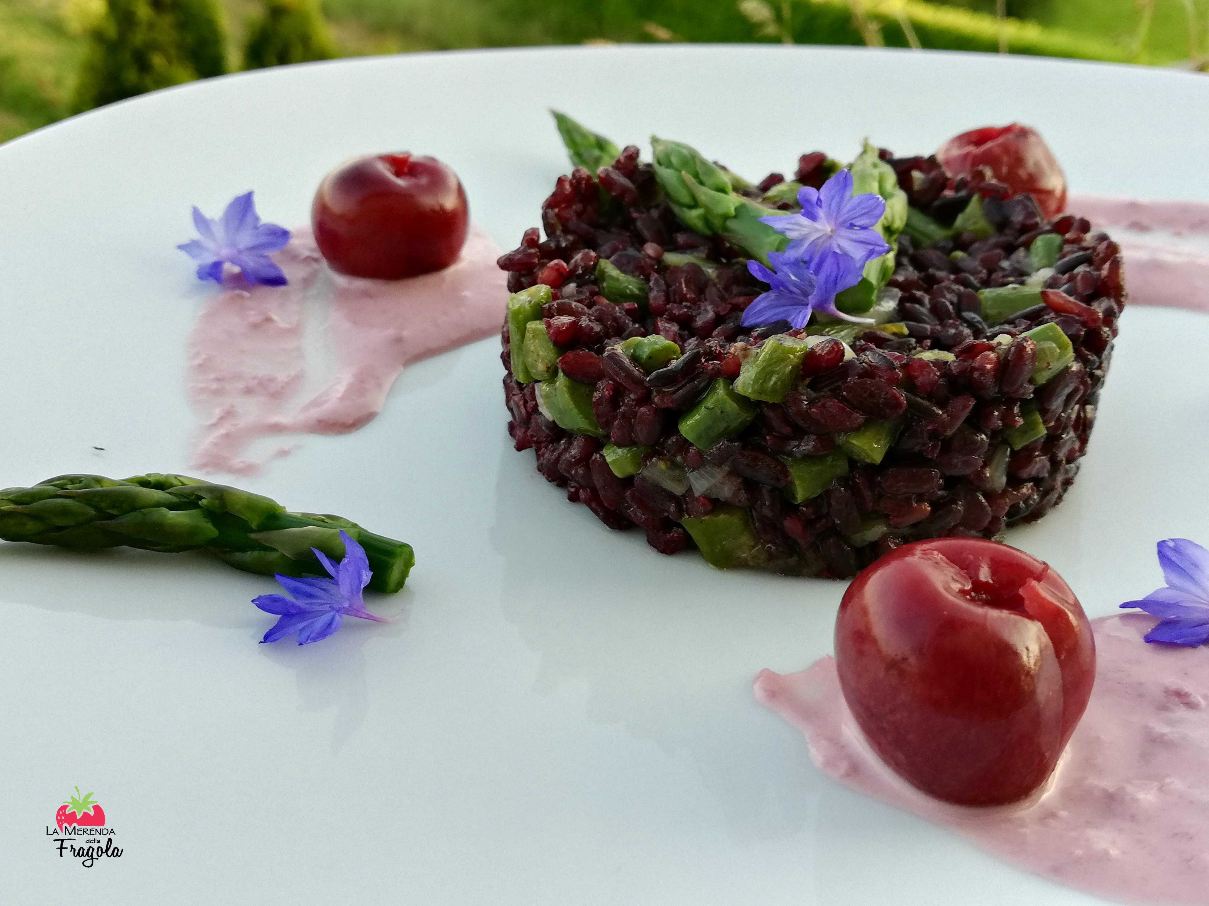 riso-venere-asparagi-ciliegie-4